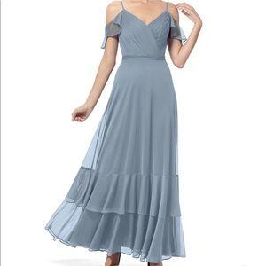 Azazie Rylan Bridesmaid Dress Dusty Blue